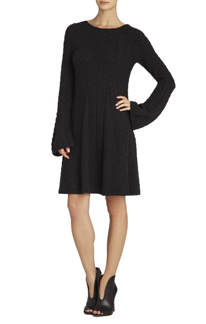 Preload https://img-static.tradesy.com/item/24255825/bcbgmaxazria-black-bcbg-cabled-pullover-sweater-dress-tunic-size-6-s-0-0-650-650.jpg