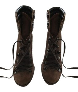 Coach Suede Chunky Brown Boots