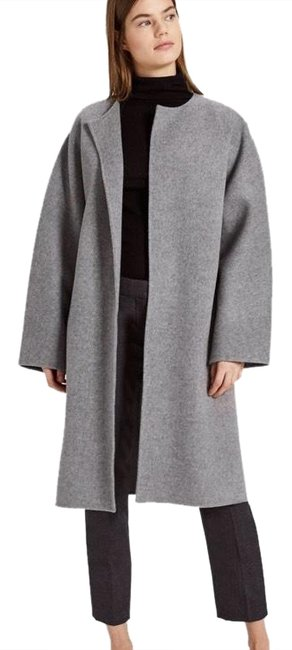 Preload https://item1.tradesy.com/images/theory-medium-grey-melange-wool-cashmere-rounded-coat-size-6-s-24255855-0-3.jpg?width=400&height=650