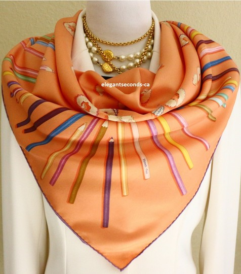 Preload https://img-static.tradesy.com/item/24255867/hermes-a-vos-crayons-leigh-p-cooke-carre-90cm-scarfwrap-0-2-540-540.jpg