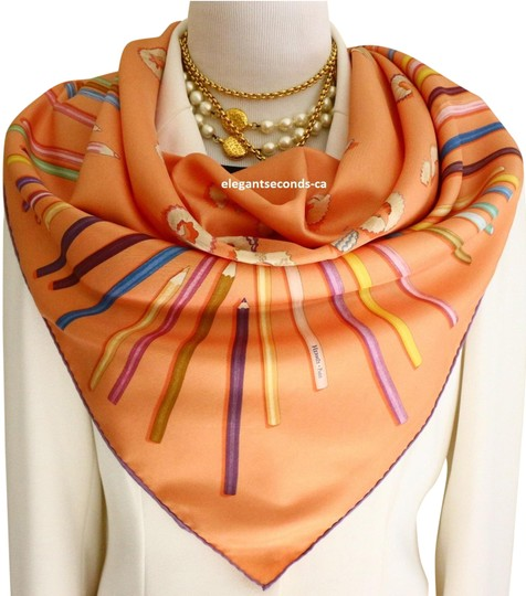 Preload https://img-static.tradesy.com/item/24255867/hermes-a-vos-crayons-leigh-p-cooke-carre-90cm-scarfwrap-0-3-540-540.jpg