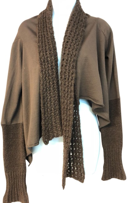 Preload https://img-static.tradesy.com/item/24255922/chocolate-firenze-shawl-collar-knit-cropped-cardigan-size-16-xl-plus-0x-0-1-650-650.jpg