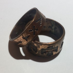 Vintage Vintage double brass tribal copper rings