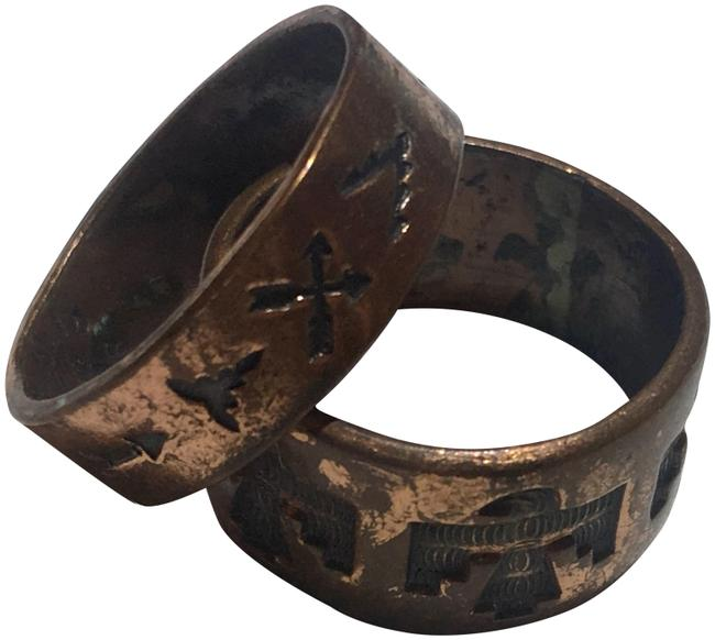 Item - Copper Double Brass Tribal Ring