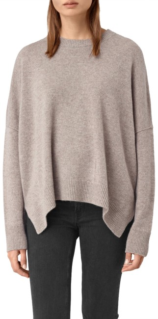 Preload https://item3.tradesy.com/images/allsaints-crew-neck-cashmere-relaxed-nudebeigelight-brown-sweater-24255932-0-3.jpg?width=400&height=650