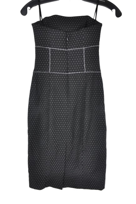 bebe short dress Black Polka Dot Bodice Strapless Shift on Tradesy