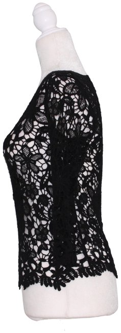 Preload https://img-static.tradesy.com/item/24255954/delias-black-lace-long-sleeve-blouse-size-2-xs-0-4-650-650.jpg