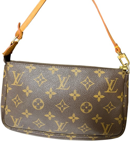 Preload https://item2.tradesy.com/images/louis-vuitton-pochette-monogram-accessory-brown-canvas-wristlet-24255956-0-3.jpg?width=440&height=440