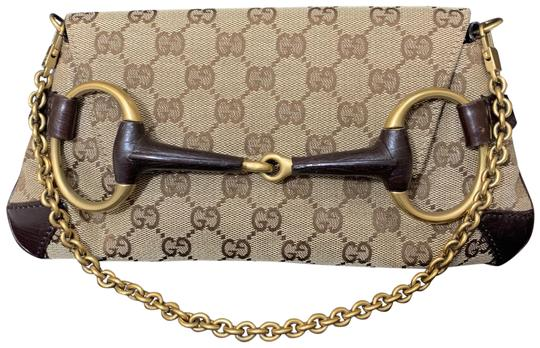 Preload https://img-static.tradesy.com/item/24255995/gucci-horsebit-chain-hand-brown-fabric-leather-satchel-0-3-540-540.jpg