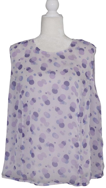 Preload https://item3.tradesy.com/images/amanda-smith-purple-white-lilac-polka-dot-sheer-20w-blouse-size-20-plus-1x-24256017-0-3.jpg?width=400&height=650