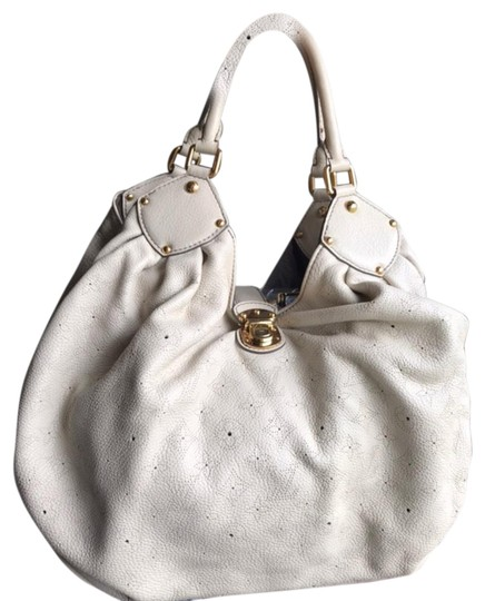 Preload https://item1.tradesy.com/images/louis-vuitton-mahina-xl-cream-leather-satchel-24256025-0-3.jpg?width=440&height=440