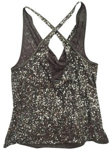 AllSaints Sequin All Saints Top Grey/Metallic Sequins