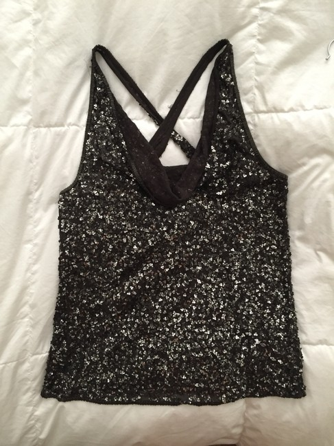 AllSaints Special Edition London Top Grey/Metallic Sequins Image 1