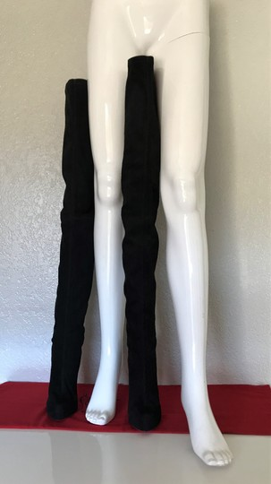 Christian Louboutin Thigh High Over The Knee Monica Black Boots