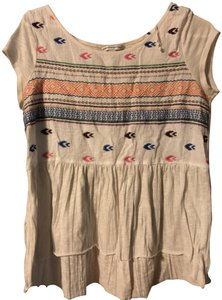 American Eagle Outfitters T-shirt Embroidered Flowy Tunic