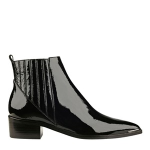 Marc Fisher Leather Chelsea Black Patent Boots