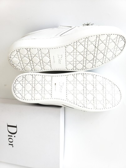 Dior Snakeskin Floral Leather White Athletic
