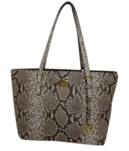 Michael Kors New With Tags Pyton Mk Tote in Dark Sand