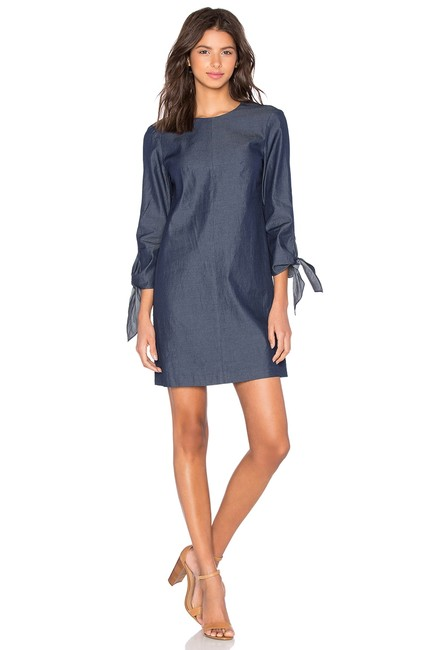 Preload https://img-static.tradesy.com/item/24256209/tibi-blue-chambray-tie-sleeve-knot-in-steel-denim-short-casual-dress-size-0-xs-0-0-650-650.jpg