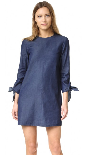 Tibi short dress Blue Tory Burch Elizabeth And James Alice Olivia Reformation Black Halo on Tradesy
