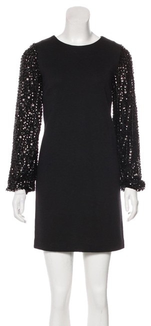 Preload https://img-static.tradesy.com/item/24256211/tory-burch-black-long-sleeve-with-sequins-short-cocktail-dress-size-2-xs-0-4-650-650.jpg