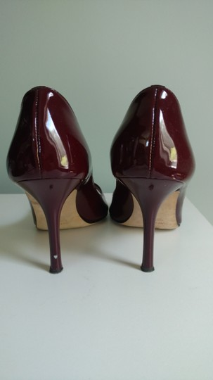 Vera Wang Stiletto Party Patent Leather Red Pumps
