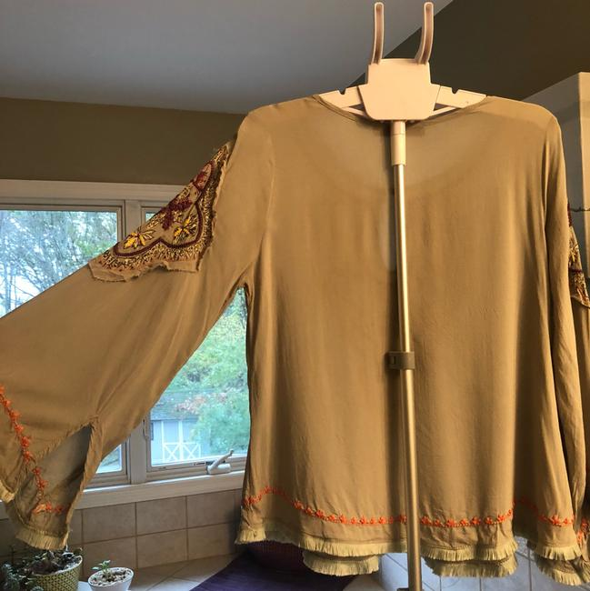 Love stitch - Super Cute Bohemian Style Shirt Top green/taupe