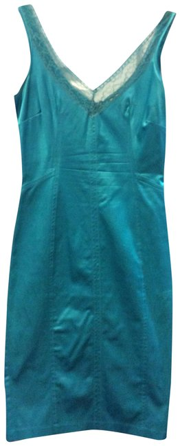 Preload https://img-static.tradesy.com/item/24256253/dolce-and-gabbana-turquoise-satin-mid-length-cocktail-dress-size-4-s-0-3-650-650.jpg