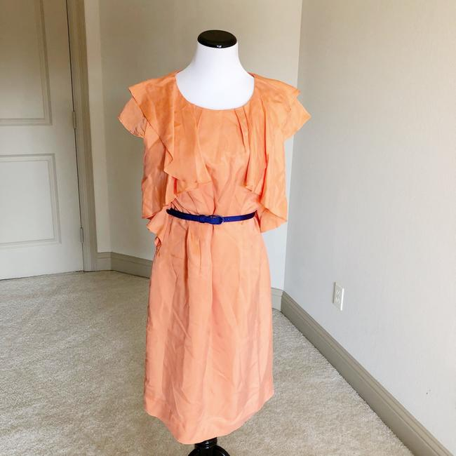 Preload https://img-static.tradesy.com/item/24256258/etcetera-orange-ruffle-with-blue-belt-cocktail-dress-size-6-s-0-2-650-650.jpg