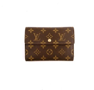 Louis Vuitton Continental Monogram Canvas Leather Clutch Trifold Wallet