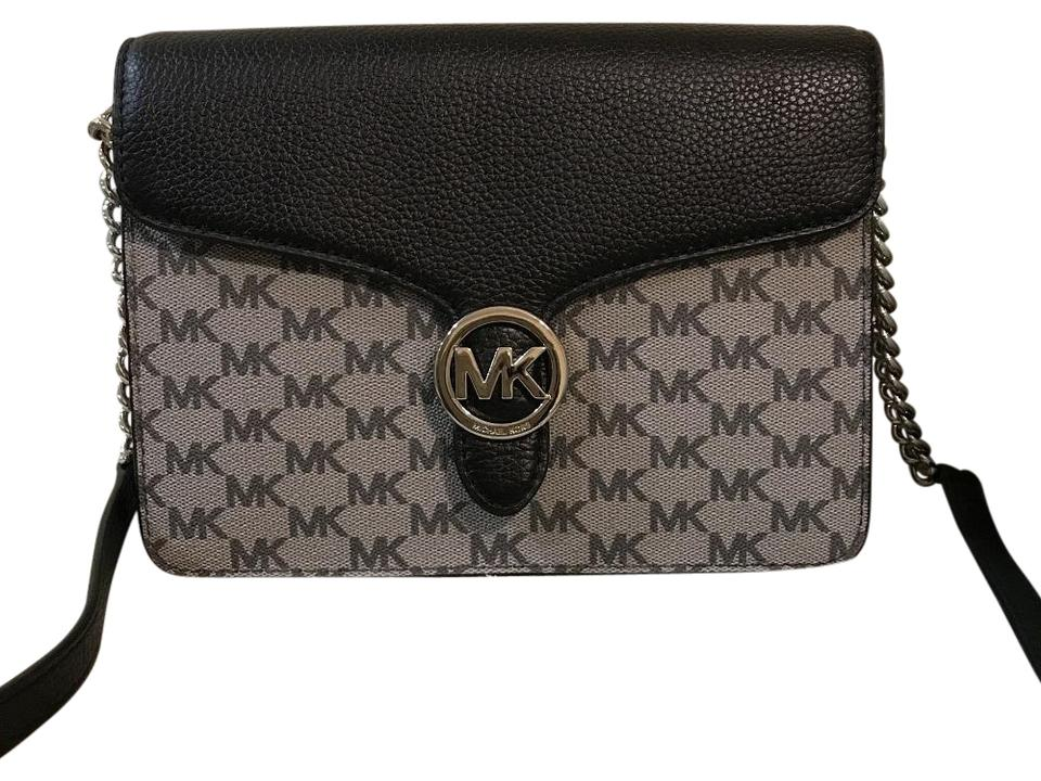 a104d8b468ba02 Michael Kors New Women's Vanna Medium Shoulder Flap Crossbody Black ...