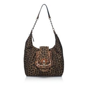 0a8756562869 Fendi 8ifnho002 Hobo Bag. Fendi Leopard-printed B. Brown Fabric X Canvas X  Leather X Others ...