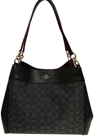 Preload https://img-static.tradesy.com/item/24256304/coach-lexy-outline-signature-black-canvas-and-leather-shoulder-bag-0-5-540-540.jpg
