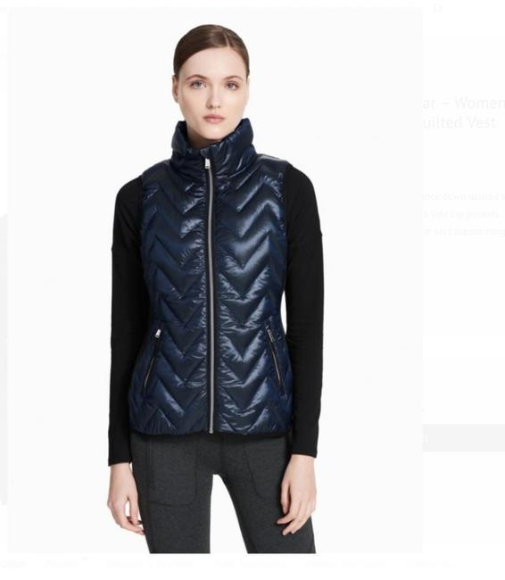 Preload https://img-static.tradesy.com/item/24256309/calvin-klein-blue-womens-performance-down-quilted-metallic-vest-size-12-l-0-2-650-650.jpg