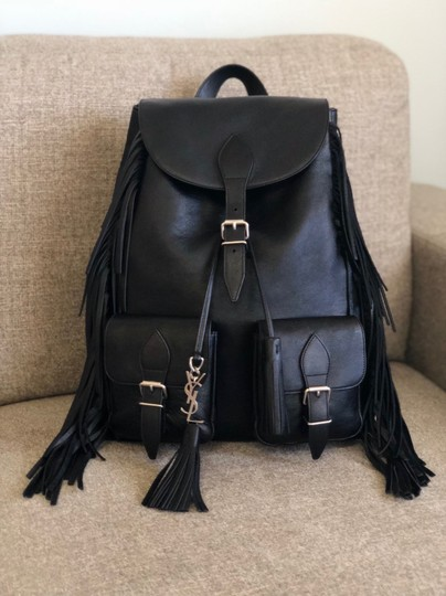 Preload https://img-static.tradesy.com/item/24256325/saint-laurent-ysl-calfskin-fringe-festival-black-backpack-0-2-540-540.jpg