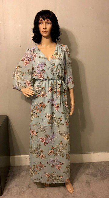 Green Floral Maxi Dress by bailey blue