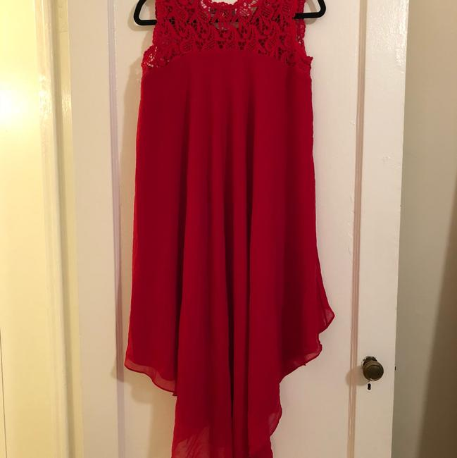 Preload https://img-static.tradesy.com/item/24256373/dress-the-population-red-crochet-and-silk-high-low-mid-length-cocktail-dress-size-6-s-0-4-650-650.jpg