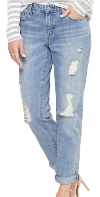 Boyfriend jean 29/8, Relaxed Straight Leg Jeans-Distressed