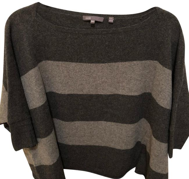 Preload https://img-static.tradesy.com/item/24256392/vince-cashmere-cropped-poncho-blackgray-sweater-0-3-650-650.jpg