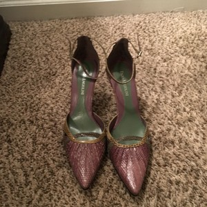 Enzo Angiolini Purple, Lime, and darker Green Pumps