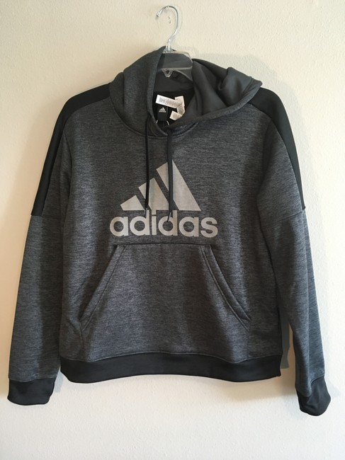Preload https://img-static.tradesy.com/item/24256446/adidas-gray-black-fleece-3-striped-insulated-pullover-sweatshirthoodie-size-14-l-0-2-650-650.jpg