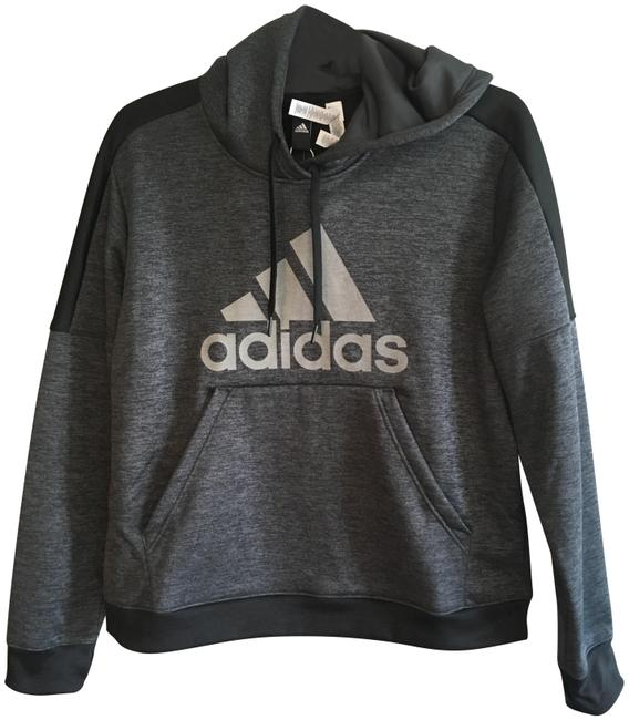Preload https://item2.tradesy.com/images/adidas-gray-black-fleece-3-striped-insulated-pullover-sweatshirthoodie-size-14-l-24256446-0-3.jpg?width=400&height=650