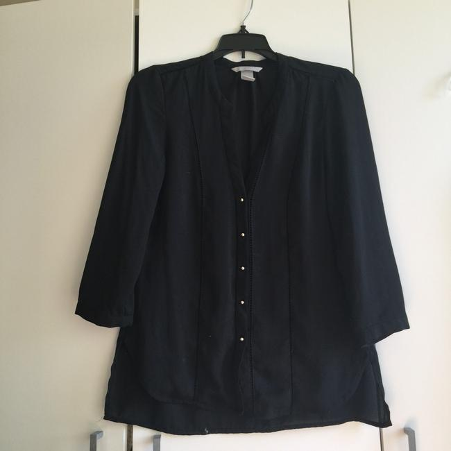 Preload https://img-static.tradesy.com/item/24256469/h-and-m-black-button-up-chiffon-blouse-size-4-s-0-2-650-650.jpg