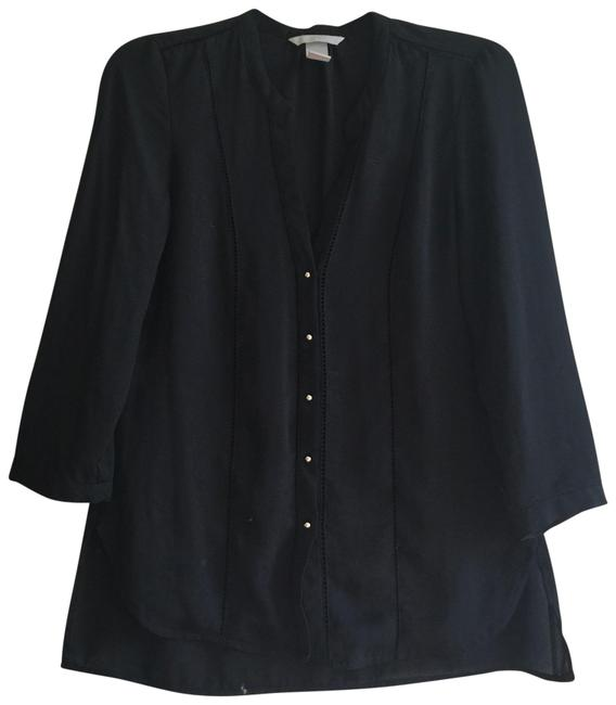 Preload https://img-static.tradesy.com/item/24256469/h-and-m-black-button-up-chiffon-blouse-size-4-s-0-3-650-650.jpg