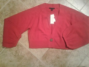 Banana Republic V Neck Cropped Wool And Cashmere Longsleeve Made In China Cardigan