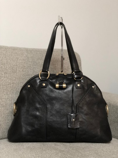 Preload https://img-static.tradesy.com/item/24256475/saint-laurent-muse-ysl-yves-black-leather-large-purse-satchel-0-2-540-540.jpg