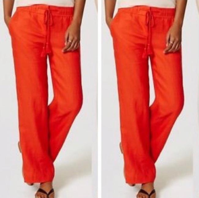 Preload https://img-static.tradesy.com/item/24256505/ann-taylor-loft-orange-red-linen-pants-size-6-s-28-0-2-650-650.jpg