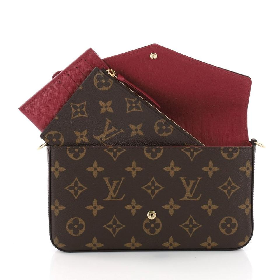 cb36c79465bd Louis Vuitton Lv Monogram Pochette Felicie Inserts Cross Body Bag Image 0  ...