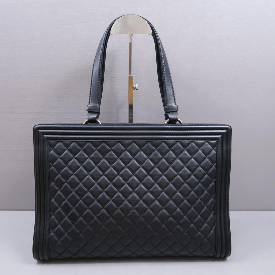 Chanel Boy Large Shopper Tote Black Calfskin Shoulder Bag - Tradesy 82dd39a329001