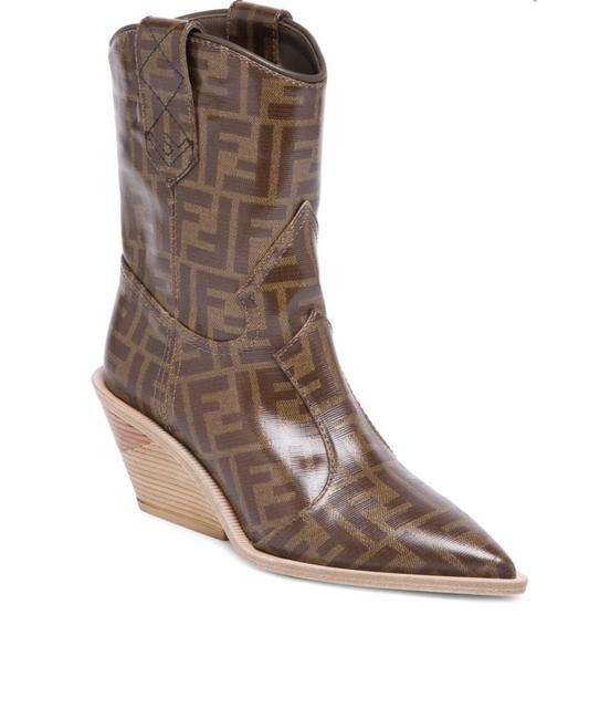 Item - Brown New Heeled Logo Leather Cowboy 38.5 Boots/Booties Size US 8.5 Regular (M, B)